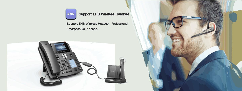 Fanvil X4 teléfono IP-Modo auricular (HS) / manos libres (HF) / auriculares (HP) (soporte EHS para auriculares Plantronics)