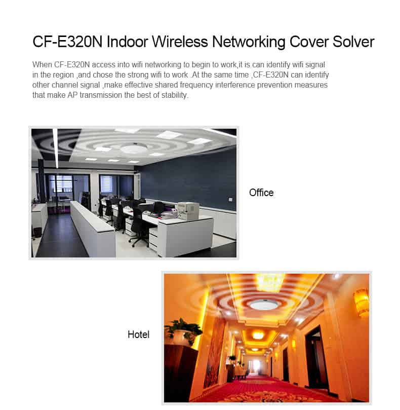 COMFAST CF-E320N indoor wireless networking cover solver