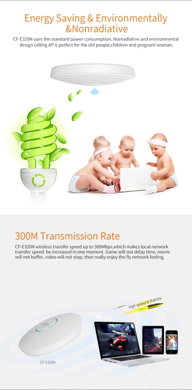 Comfast CF-E320N V2 energy saving