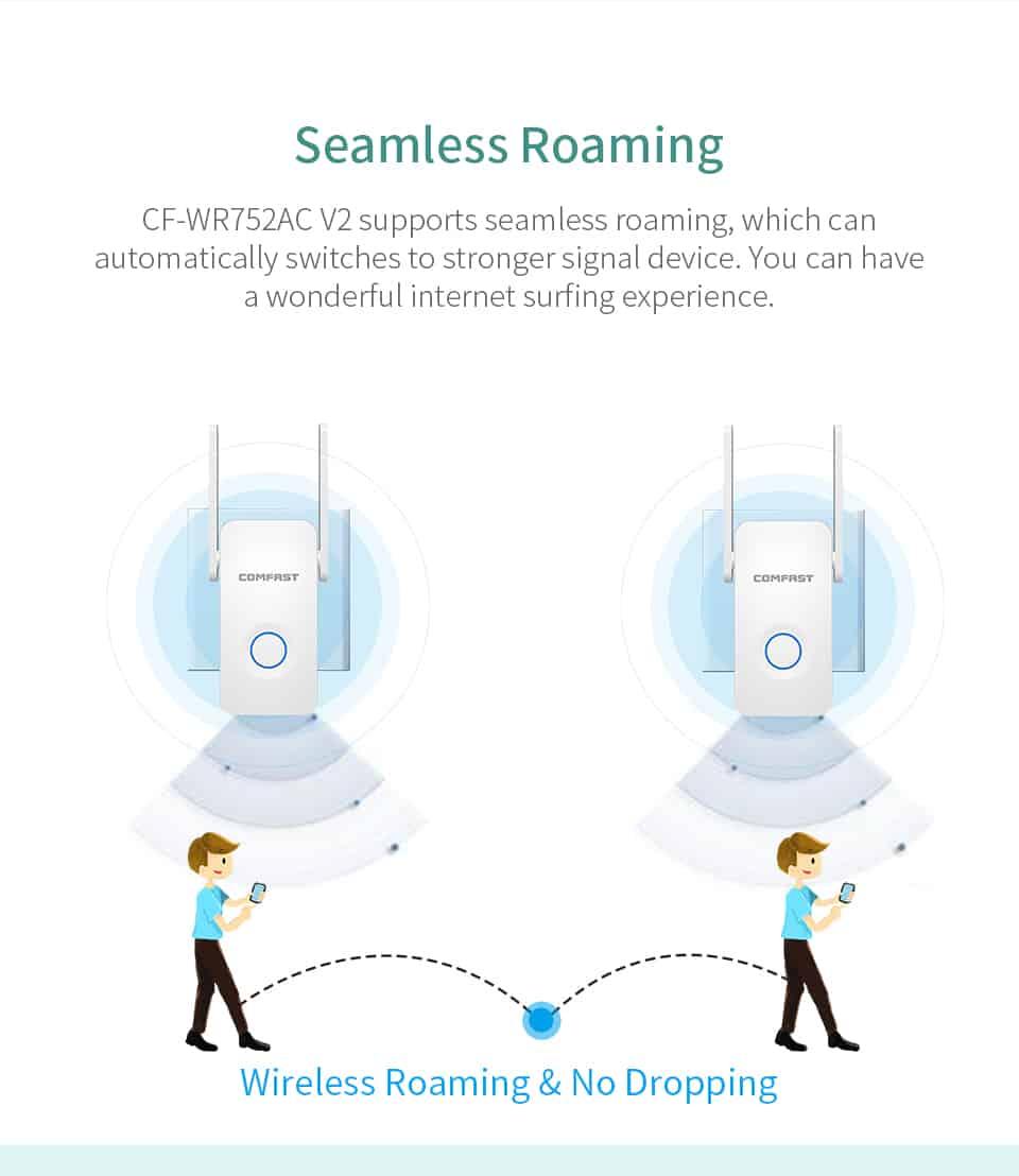 Comfast CF-WR752AC V2 seamless roaming