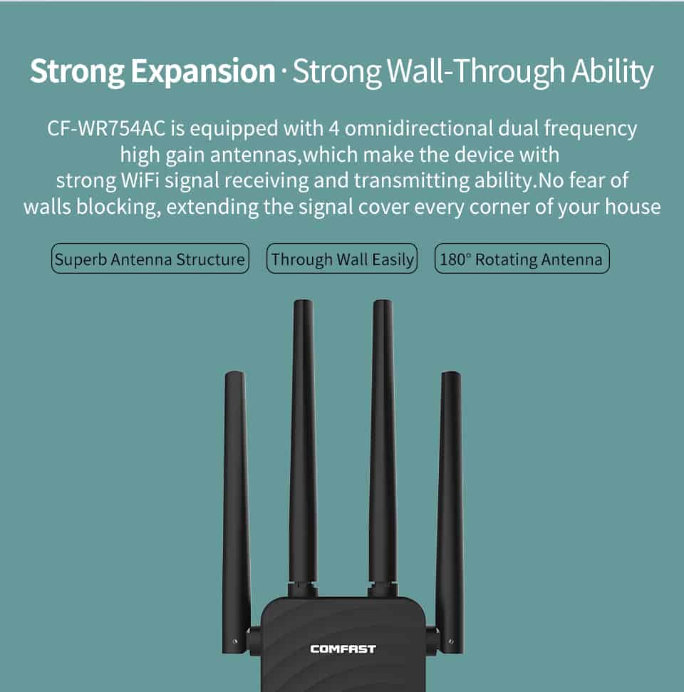 Comfast CF-WR754AC strong expansion