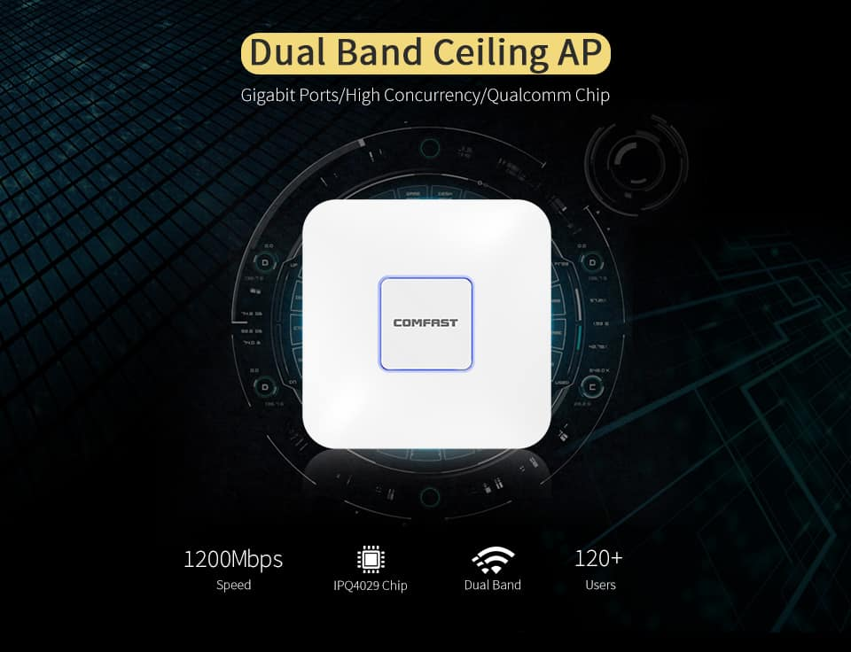 Comfast CF-E370AC dual band ceiling AP
