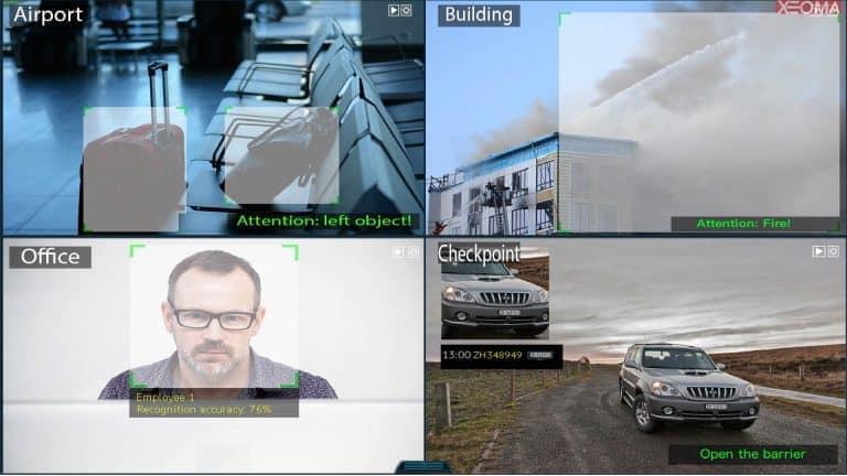 [Módulos intelectuales |] Análisis de video avanzado: Reconocimiento de placa frontal o de matrícula, Detección de humo u objetos abandonados.
