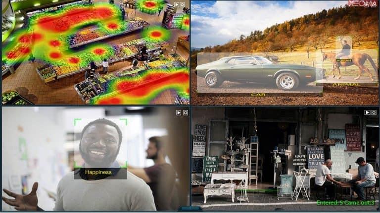 [Módulos intelectuales |] Análisis de video avanzado: mapa de calor, reconocimiento de emociones, clasificación de objetos (humanos, animales, automóviles, etc.), contador de visitantes